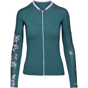 6.5 oz Recycled polyester snug fit surf shirt Full front zip for added comfort Boardshort connector Seamless paddle zones to reduce rashing Ergonomic paneling enhances comfort and flexibility Covert low profile seams Fabric Details 85% Recycled Polyester, 15% Elastane