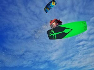 Tim Bighley kiteboarding air